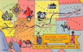Postcardy The Postcard Explorer Map Fred Harvey Hotels