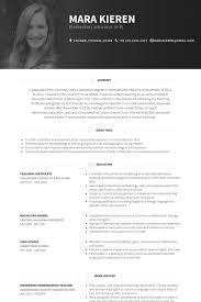 Kindergarten Teacher Resume Samples - Visualcv Resume Samples Database