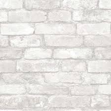 grey and white brick l and stick wallpaper