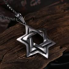 details about 18k white gold plated star of david pendant charm necklace chain 18