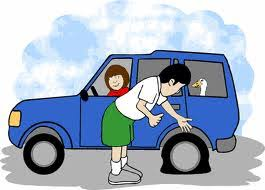 flat tires clipart. Plain Flat To Flat Tires Clipart