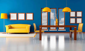 Yellow And Blue Living Room Living Room Small Ideas With Tv In Corner Cottage Fence Basement