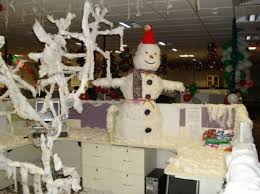 office decorations. Christmas Decoration Ideas For Office White-christmas-office-decorations Office Decorations