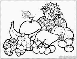 Fruits And Vegetables Coloring Sheet With Colouring Pages