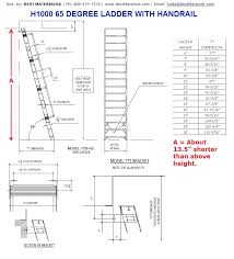 Step Ladder Size Chart Alaco H1000 Ships Stair Wall Mount Ladder W Handrail 8 20 Ft