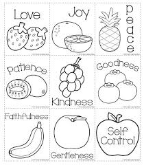 sundayschool printables free printable fruit of the spirit coloring pages coloring pages