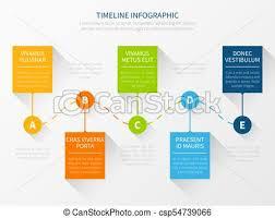 Chart Presentation Images Modern Vector Timeline Workflow Chart Infographic Concept For Marketing Presentation