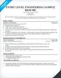 Quality Engineer Resume Sample Entry Level Software Engineer Resume