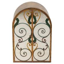 neoclassical wrought iron wall hanging