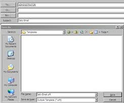Create An Outlook Template Outlook Email Template Create An Email Template In Outlook 2003