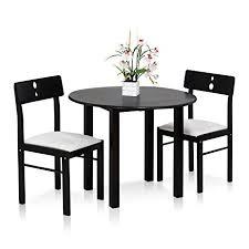 furinno cos drop leaf 3 pc solid wood dining set fkcd075 3