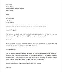 Free Editable Two Weeks Notice Template Word Doc Download