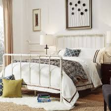 West Antique Industrial Lines Iron Metal Bed by iNSPIRE Q Classic by  iNSPIRE Q