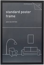 standard size posters impact posters frame 61 x 91 5cm black largest licensed