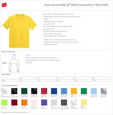 Hanes Youth T Shirt Size Chart Rldm