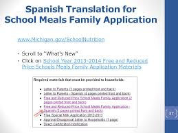 Free Reduced Price School Meals Family Applications School Year