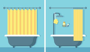 bathroom shower clipart. Simple Shower Bathroom Shower Interior In Flat Cartoon Vector Style With Open And Closed  Curtain With Shower Clipart H