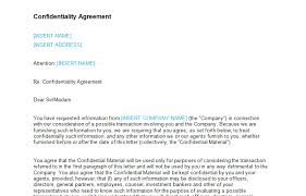 Confidentiality Agreement Samples Confidentiality Agreement Letter Template Bizorb