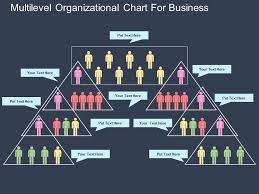 Av Multilevel Organizational Chart For Business Flat