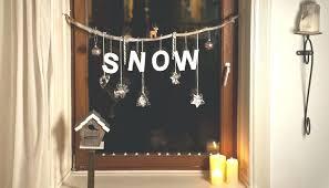 Fensterdekoration Weihnachten Chalk Pen On Window For Nice Winter Or