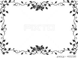 フレーム 花 薔薇 コラージュ 自然 つるのイラスト素材 Pixta