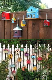 bird house garden fence decor backyard decoration makeover ideas decorations for