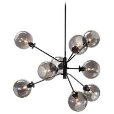 nuevo lighting atom pendant light with smoked grey glass  hgra