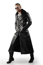 black trench coat mens men single ted military