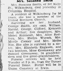 Obituary for Susanna Smith - Newspapers.com