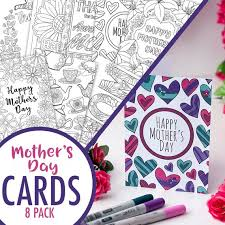 Mothers Day Card Template New Mother's Day Cards 48 Printable Mother's Day Card Etsy