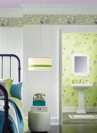 doodlerific fl purple and green wallpaper border room to grow york bs5409b