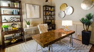 mid century modern office. sophisticated midcentury modern office touches of metallic glam midcentury homeoffice mid century