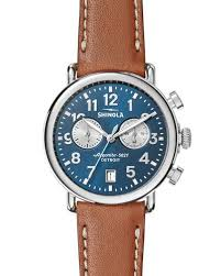 men s designer watches leather gold at neiman marcus 41mm runwell chronograph watch midnight blue tan