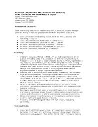 Network Engineer Resume Sample Job And Template Obje Sevte