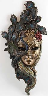 Decorative Masquerade Masks Ornate decorative Venetian mask surrounded by a peacock Gorgeous 38