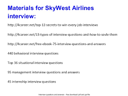 flight attendant interview tips sky west airlines interview questions and answers