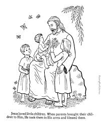 Jesus With Children Coloring Pages To Print 048