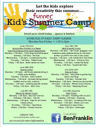 crafts classes for kids flyers flyersup kids funner camp at ben franklin crafts grass valley
