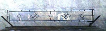 custom made stained glass transom window panel clear bevel stars w antique windows