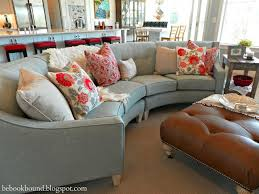 Be Book Bound: Curved couch. A natural and easy placement for this curved  sectional