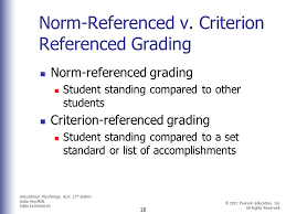classroom assessment grading and standardized testing ppt  criterion referenced grading