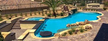 Custom Backyard Pool Designs Las Vegas Custom Swimming Pool Builders Blue Haven Pools