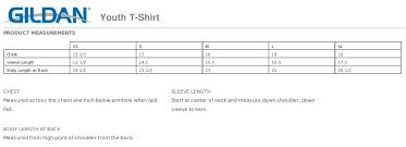 Gildan T Shirts Size Chart For Youth Gildan Ultra Cotton Size Chart Youth Best Picture Of Chart