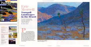 eric merrell tranquil landscapes in the desert plein air painting