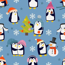 cute penguin pattern wallpaper. Beautiful Cute Childish Christmas And New Year Vector Seamless Pattern In Flat With Cute  Penguins Animal Decorative To Cute Penguin Pattern Wallpaper