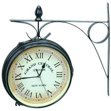 train clocks grand central dual sided outdoor clock station double 2 thermometer