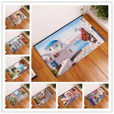 New Seaside Town Printed Mat Anti-Slip Decor Doormat Foot Pad ...