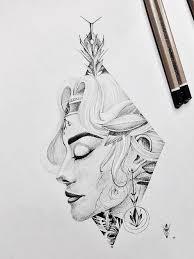 сделать татуировку девушка в городе москва по эскизу салона студия