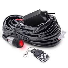 How Many Amps Do Led Light Bars Use Mictuning Led Light Bar Wiring Harness 40 Amp Relay Fuse On