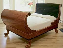 Woodworker: William Turner. This sleigh bed ...